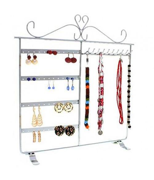Porte bijoux cadre dressing pour boucle d 39 oreille et collier for Porte boucle d oreille maison