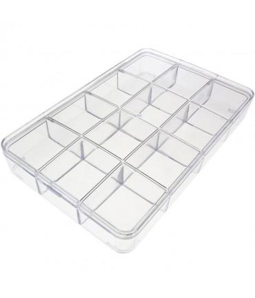 Coffrets et bo tes en plastique carton pour - Boite rangement compartiment ...