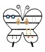 Porte boucle d'oreille Papillon (43 paires) - Noir