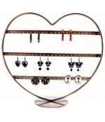 Porte boucle d'oreille Cœur à rangs (34 paires)