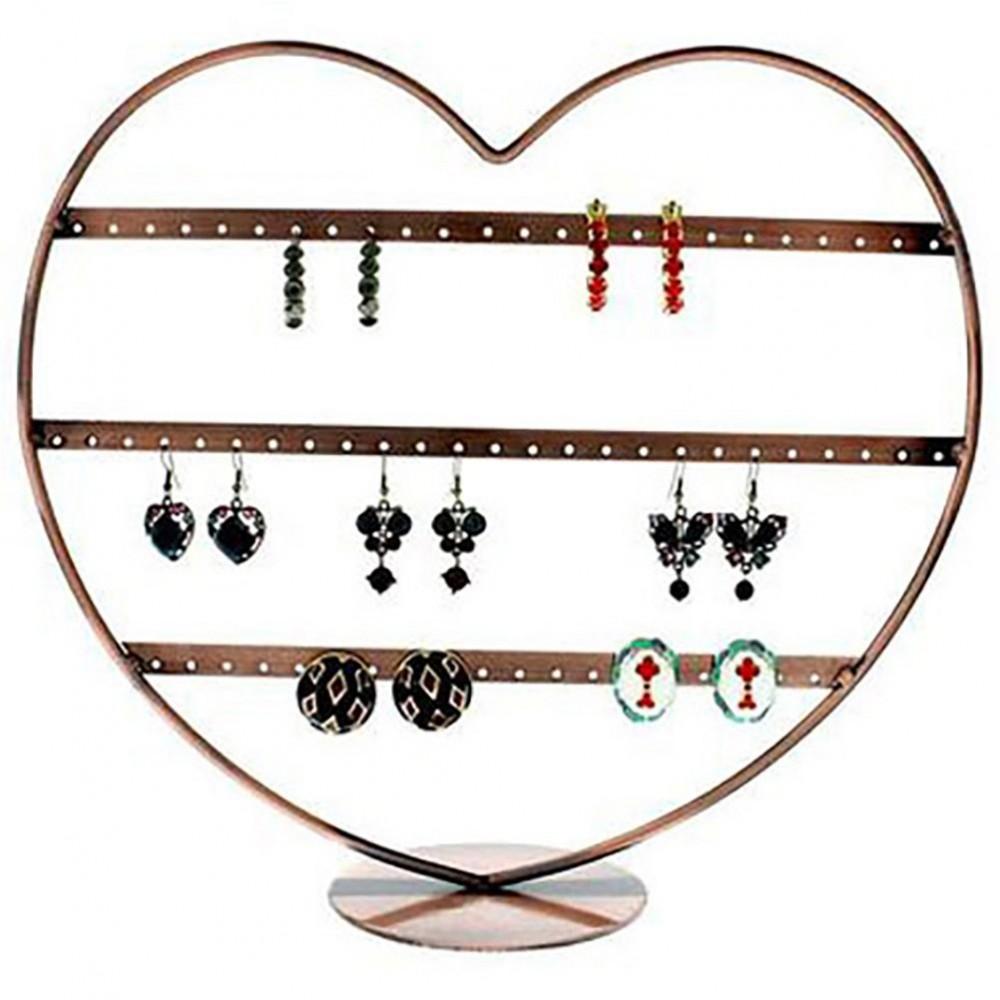 support boucle d oreille c ur rangs 34 paires. Black Bedroom Furniture Sets. Home Design Ideas
