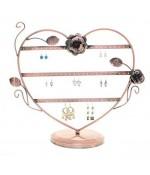 Porte boucle d'oreille Cœur Romantique (30 paires)