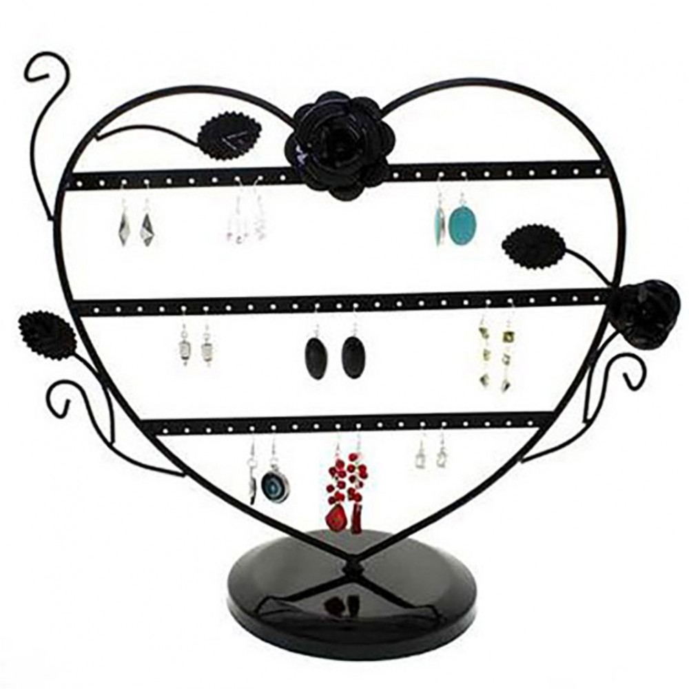presentoir boucles d 39 oreilles c ur romantique 30 paires. Black Bedroom Furniture Sets. Home Design Ideas