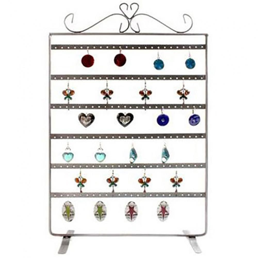 Cadre porte bijoux pour boucle d 39 oreille 6rangs 72 paires - Presentoire boucle d oreille ...