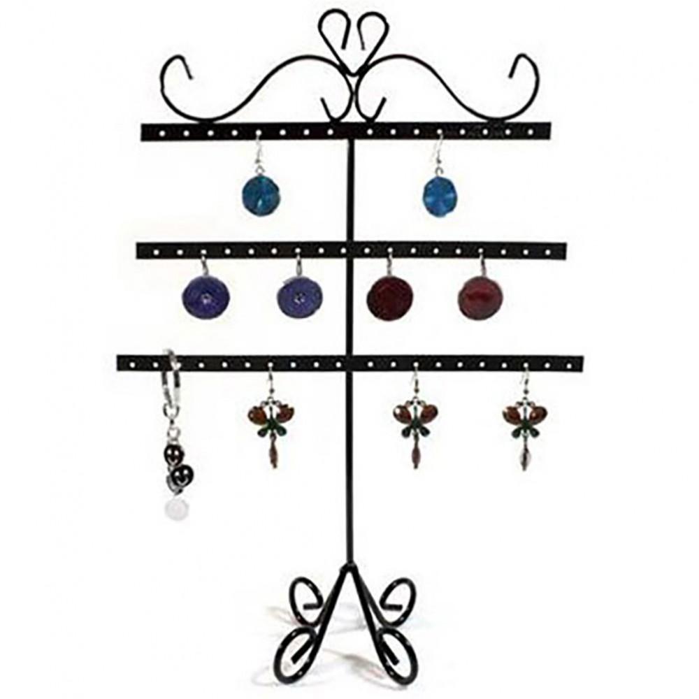 Pr sentoir boucles d 39 oreilles alinea porte bijoux 27 paires - Porte boucle d oreille arbre ...