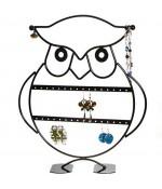Presentoir bijoux pour boucles d'oreilles Hibou (16 paires)