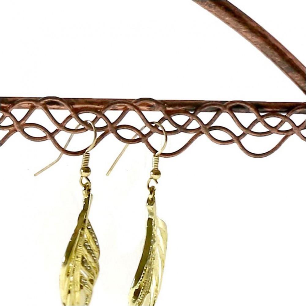 Cintre porte bijoux support boucle d 39 oreille pour 25 paires - Porte boucle d oreille maison ...