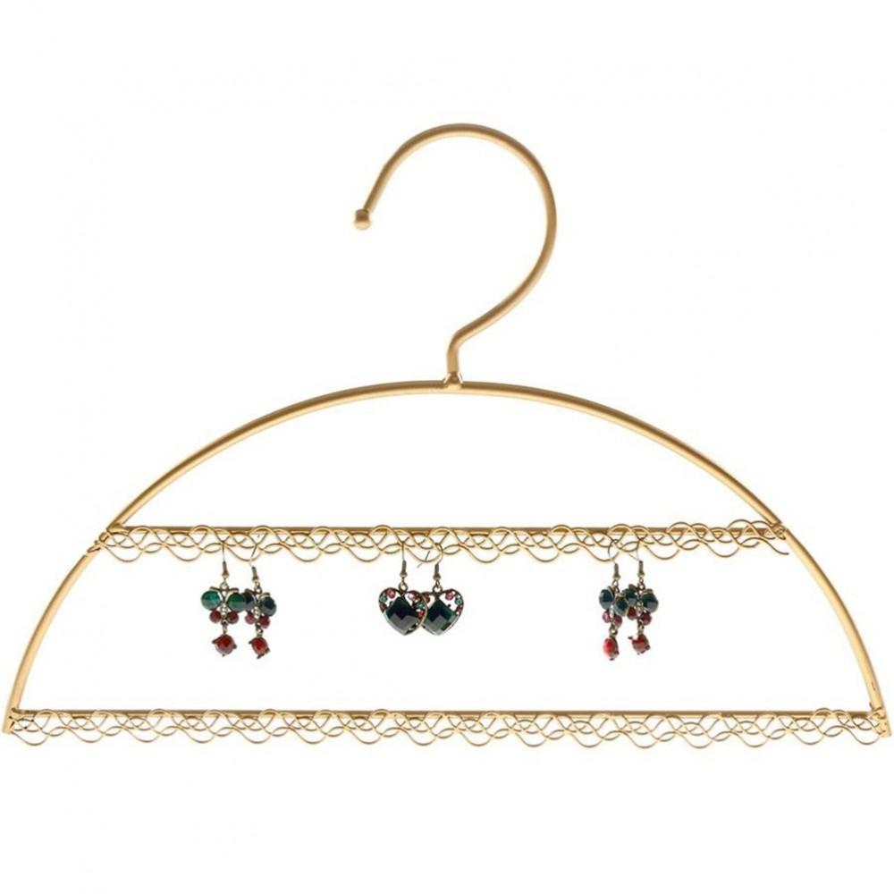 Cintre porte bijoux support boucle d 39 oreille pour 25 paires for Porte boucle d oreille