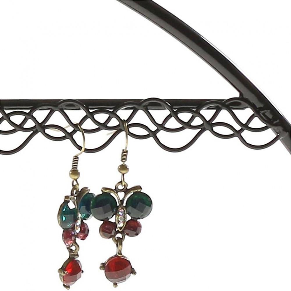 Cintre porte bijoux support boucle d 39 oreille pour 25 paires - Porte boucle d oreille mural ...
