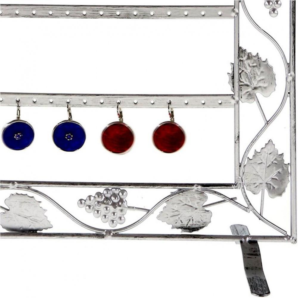 Cadre porte bijoux porte boucle d'oreille Vignes 28 paires