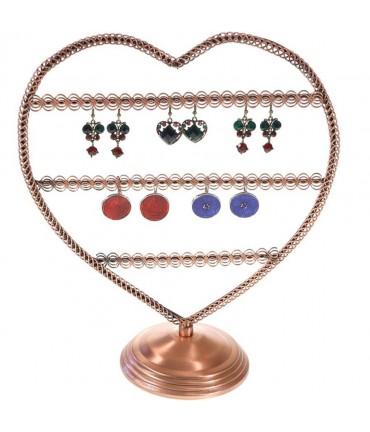 Porte boucle d'oreille Amour (25 paires) - Cuivre