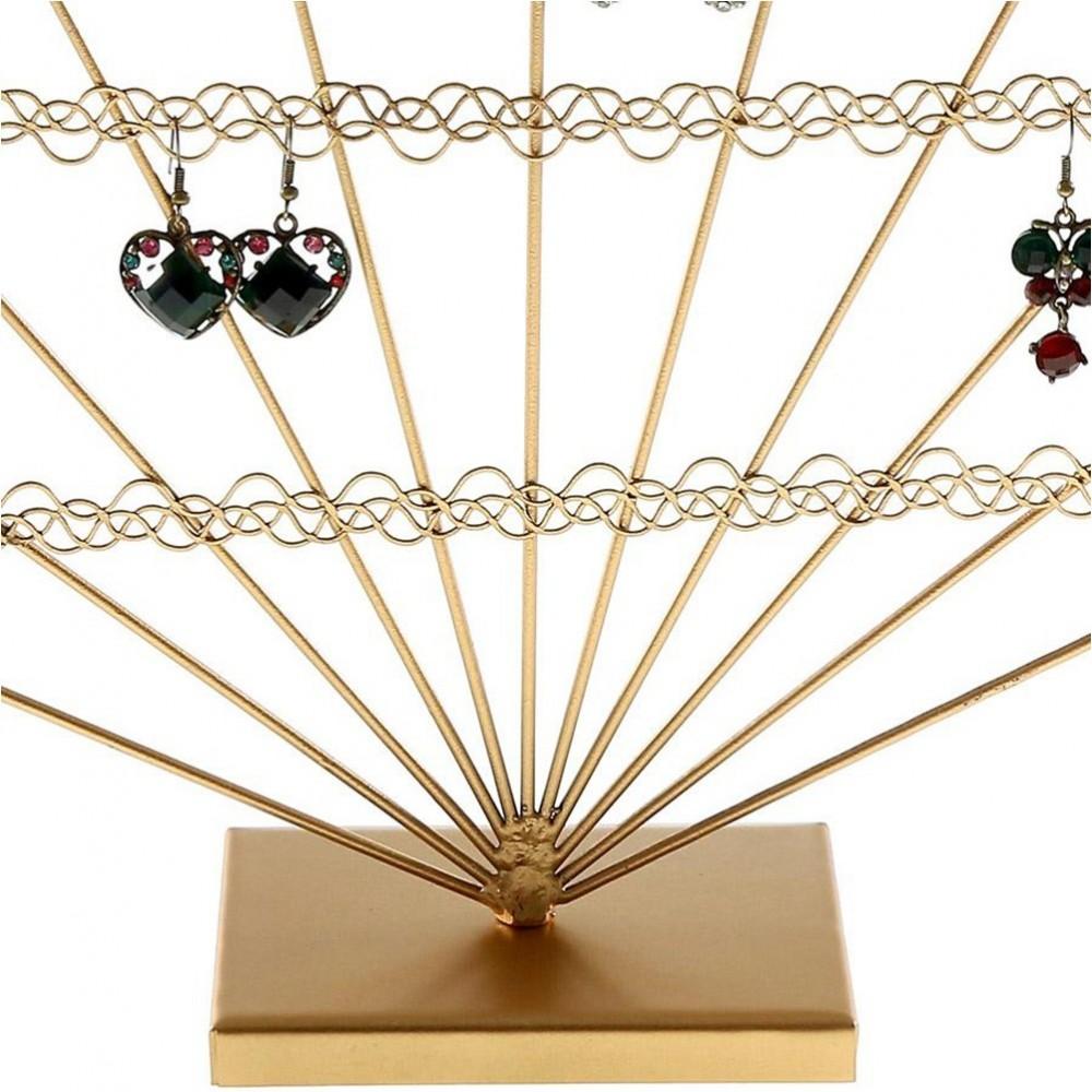 Support boucle d 39 oreille eventail pour 50 paires porte boucle - Porte boucles d oreille ...