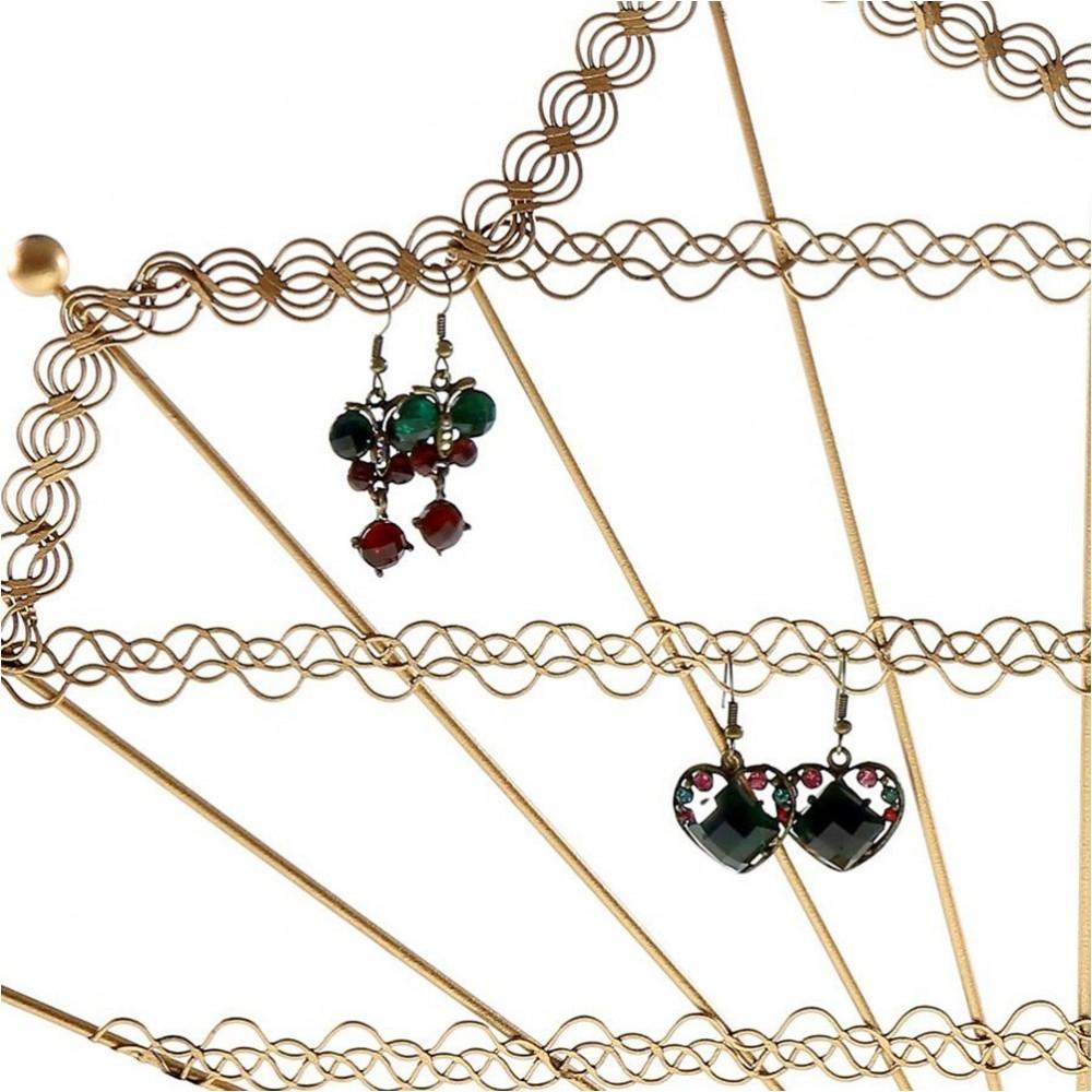 Support boucle d 39 oreille eventail pour 50 paires porte boucle - Porte boucle d oreille maison ...