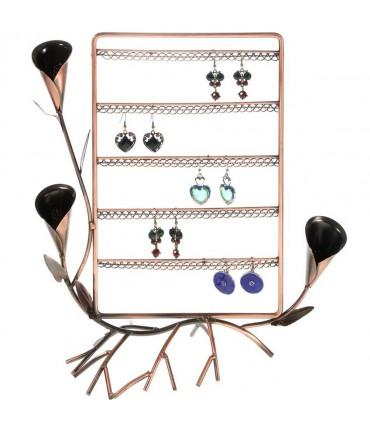 Presentoir boucle d'oreille Fleur Arum (40 paires) - Cuivre