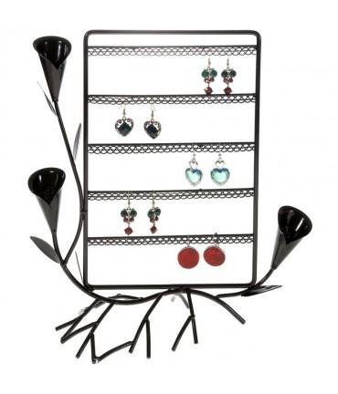 Presentoir boucle d'oreille Fleur Arum (40 paires) - Noir