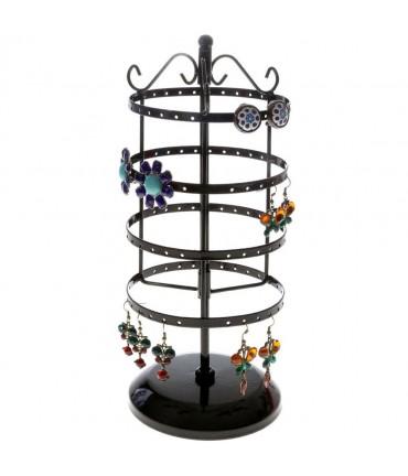 Porte bijoux manège à boucles d'oreilles (54 paires) - Noir