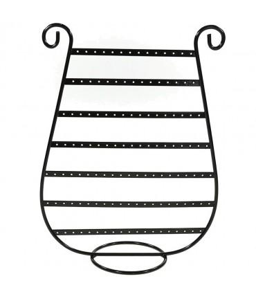 """Présentoirs """"Lyre""""pour boucles d'oreilles (62 paires) - Noir"""