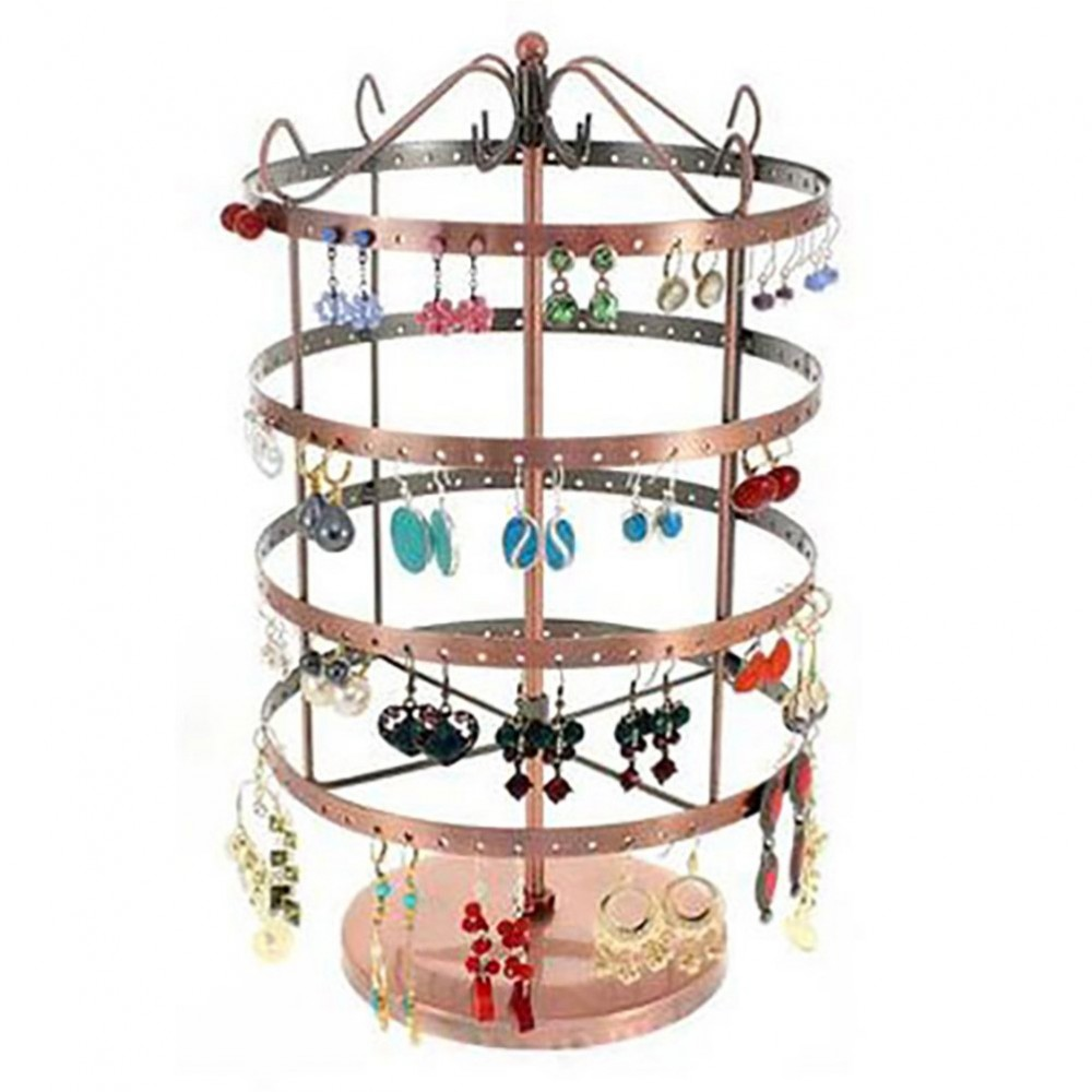 porte bijoux tourniquet pour boucles d 39 oreilles carrousel 96 paires ebay. Black Bedroom Furniture Sets. Home Design Ideas