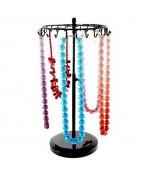 Présentoir manège à bijoux pour colliers et/ou bracelets - Noir