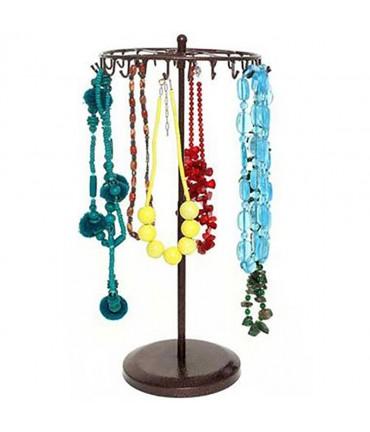 Présentoir manège à bijoux pour colliers et/ou bracelets - Rouille patiné