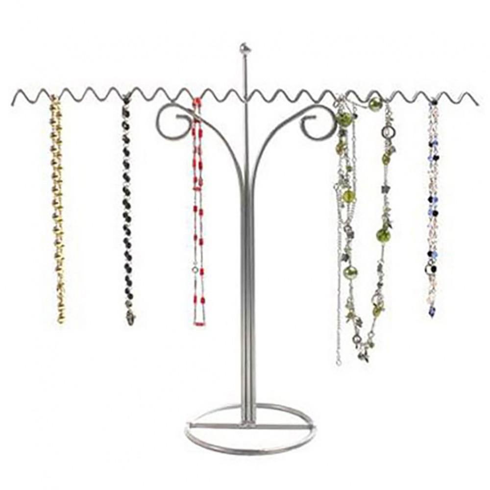 Pr sentoir porte bijoux pour colliers zigzag 18 colliers for Porte bijoux