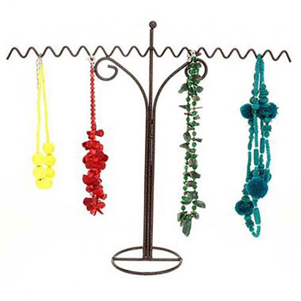 pr sentoir porte bijoux pour colliers zigzag 18 colliers zigzag en m tal. Black Bedroom Furniture Sets. Home Design Ideas