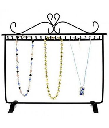 Porte bijoux bracelets, colliers, porte clefs - Noir