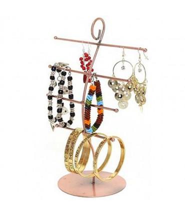 Présentoir à bijoux mixte 4 rangs - Cuivre