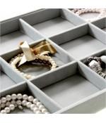 Plateau bijoux à 12 compartiments en velours