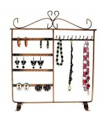 Cadre porte bijoux Dressing boucle d'oreille et collier - Cuivre