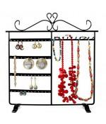 Cadre porte bijoux Dressing boucle d'oreille et collier - Noir