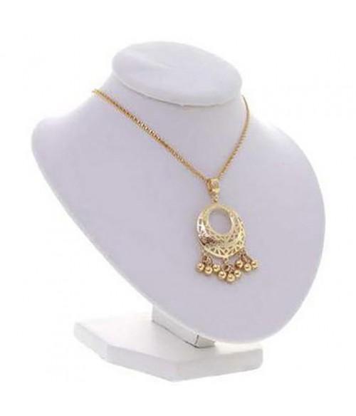 Buste porte collier et chaine simili cuir 16 cm