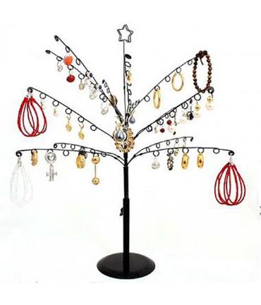 Arbre à boucle d'oreille et bijoux Noela à 14 crochets - Noir