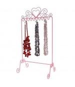 Présentoir Dressing pour colliers - Rose