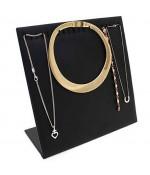 Présentoir ou Porte bijoux pour 20 chaînes, colliers - Noir