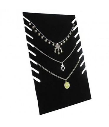Presentoir collier Plaque pour stand H 28 cm (8 colliers) - Noir