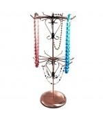 Presentoir collier et sautoirs manège bijoux métal H47cm - Cuivre