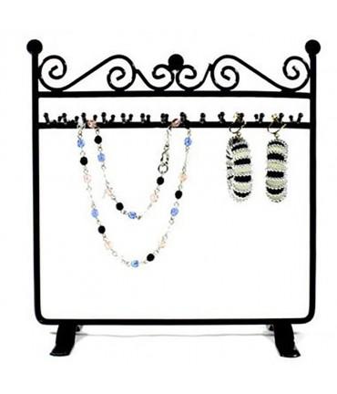 Porte bijoux cadre Dressing bracelet collier et accessoire - Noir