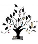 Arbre à boucle d'oreille et bijoux Design - Noir