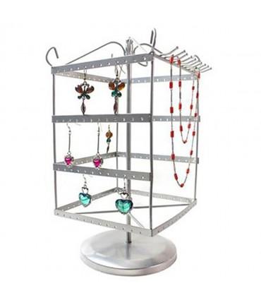 Tourniquet boucle d'oreille et collier (78 paires) - Gris