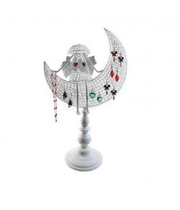 Porte bijoux Ange décoratif pour boucle d'oreille et chaines - Blanc