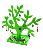 Arbre à boucle d'oreille et bijoux Happy tree (32 paires) - Vert