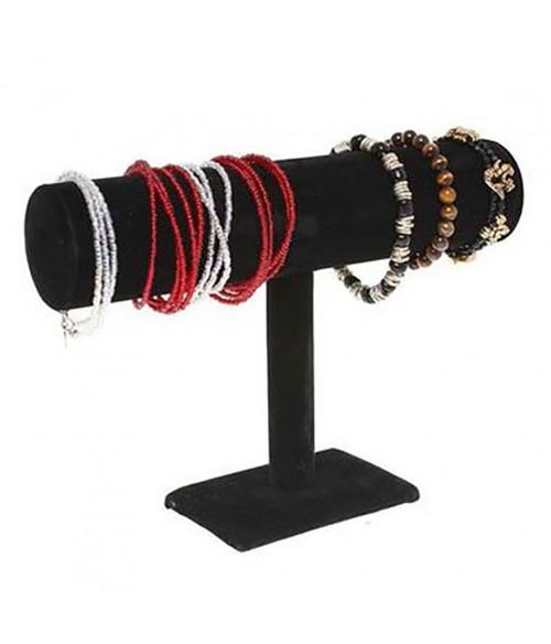 Jonc porte bracelet montres en velours à 1 rang