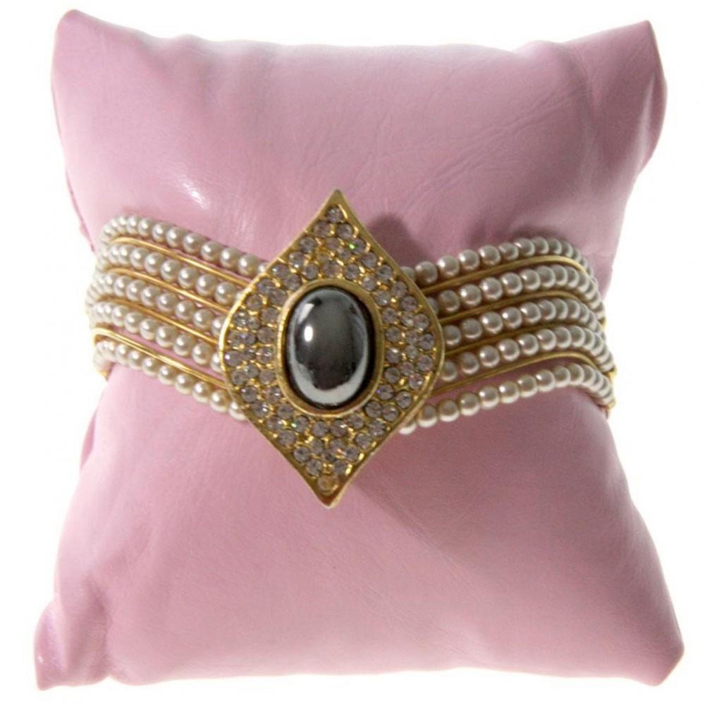 coussin simili cuir coussin bijoux montre et bracelet 8x8cm. Black Bedroom Furniture Sets. Home Design Ideas