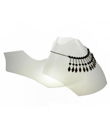 Bustes colliers pliants 10 cm (10 pièces) - Translucide