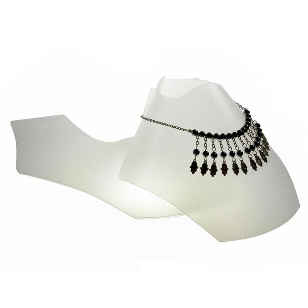 buste pour bijoux collier 10 supports plastique pliant stand. Black Bedroom Furniture Sets. Home Design Ideas