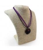 Buste porte collier ou sautoir Ethnica en raphia 27 cm