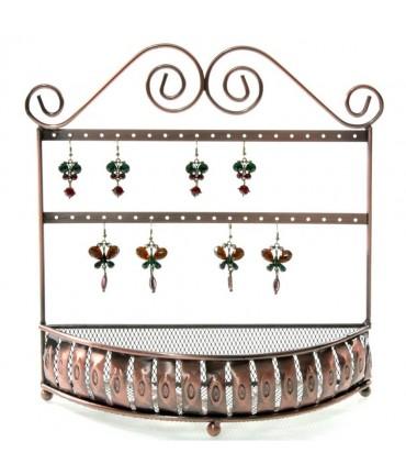 Porte boucle d'oreille et porte bijoux Panier (20 paires) - Cuivre