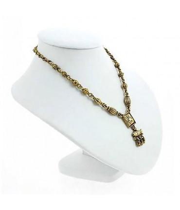 Buste porte collier en simili cuir 18 cm