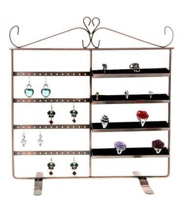 Porte bijoux cadre Duo pour boucle d'oreille et bague - Cuivre